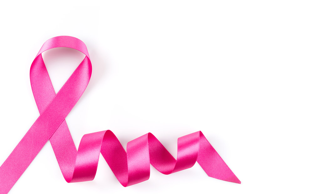 Pink Breast Cancer Ribbon Isolated